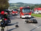 Nowy Sącz. Groźny wypadek przy Zajeździe Sądeckim. Nie żyje motocyklista
