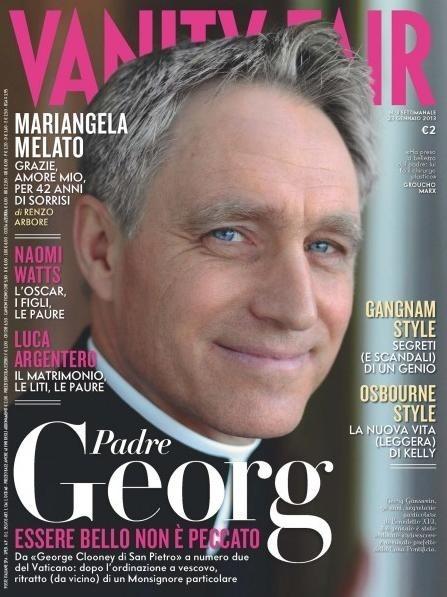 """o. Georg Gänswein na okładce """"Vanity Fair"""""""