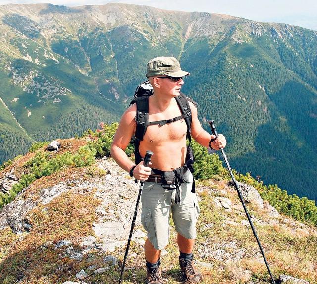 Jeden z modeli: rzecznik Włodzimierz Tutaj, pasjonat gór