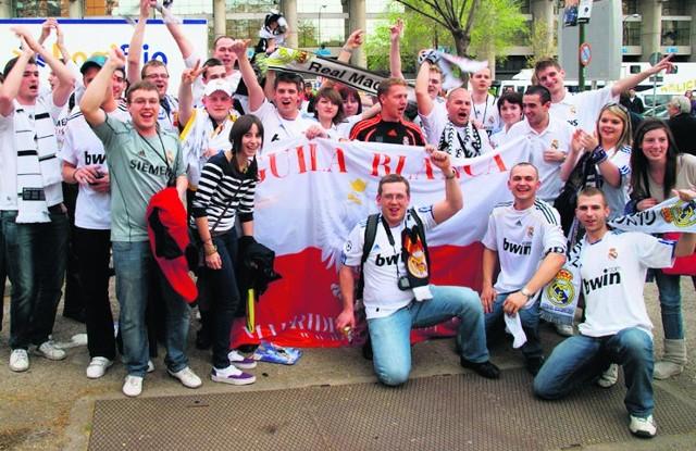 Fani Realu podczas wizyty na stadionie  w Madrycie