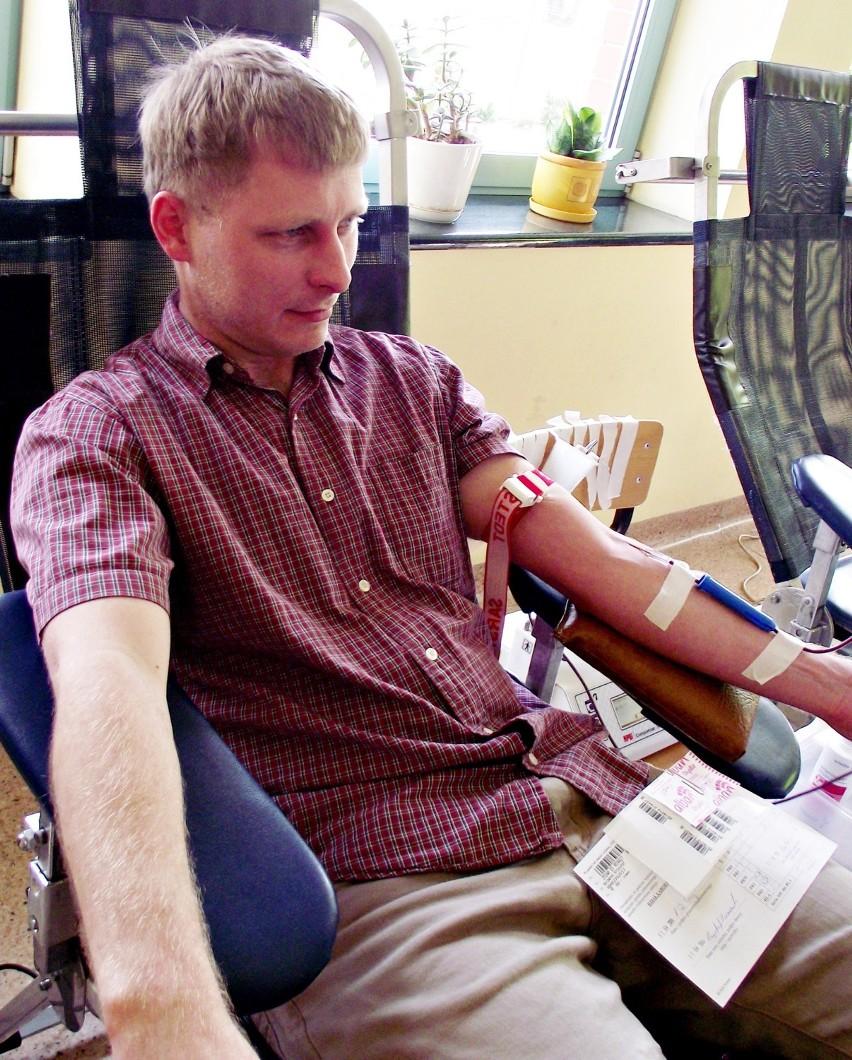 Zbąszyń. Oddawali krew dla chorego Mirosława Kaźmierczaka ze Strzyżewa