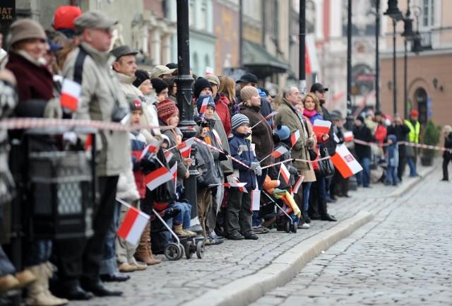 Obchody Święta Niepodległości w Poznaniu co roku przyciągają tłumy mieszkańców