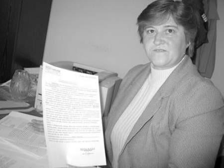 Pani Teresa dostała zaświadczenie, że musi dopłacać do opieki nad synem.