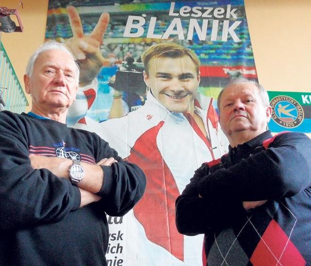 Od lewej: Alfred Kucharczyk, który doprowadził Leszka Blanika do pierwszego mistrzostwa Polski seniorów,  i  Ludwik Blanik