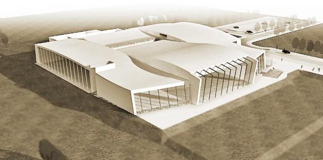 Gmach term ma zostać pokryty dachem w kształcie trzech fal