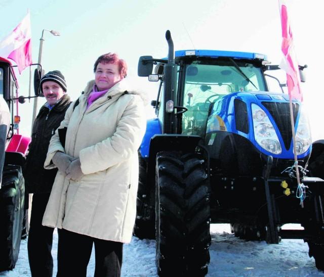Rolnicy najpierw zebrali się na chojnickim pl. Piastowskim