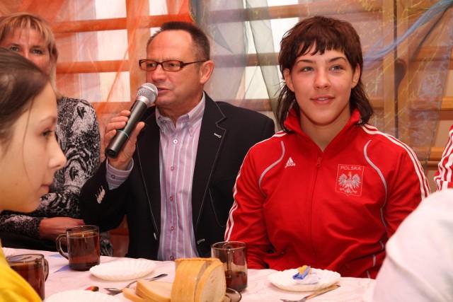 Jan Godlewski razem z Agatą Pietrzyk (Suples Kraśnik), jedną z kandydatek do wyjazdu na igrzyska olimpijskie