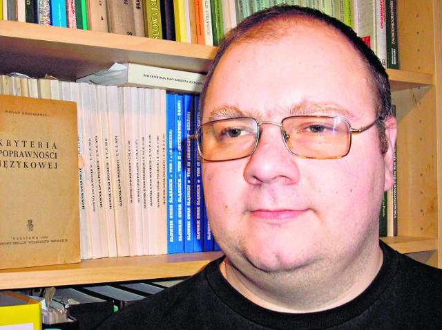 Dr Artur Czesak, językoznawca z Uniwersytetu Jagiellońskiego