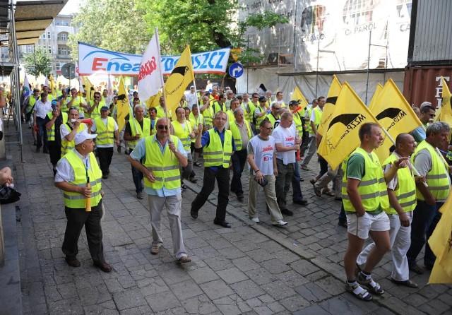 Podczas podziału akcji nie obyło się bez protestów pracowników Enei
