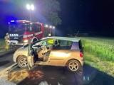 Wypadek w powiecie wągrowieckim. Dachował samochód osobowy