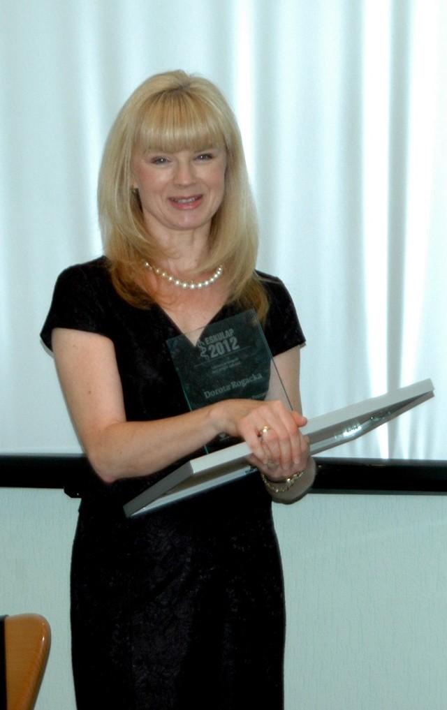 dr Dorota Rogacka - Najlepszy Lekarz plebiscytu Eskulap 2012.