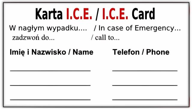 """Każdy powinien znać akronim ICE (z ang. in case of emergency, czyli """"w nagłym wypadku"""")"""