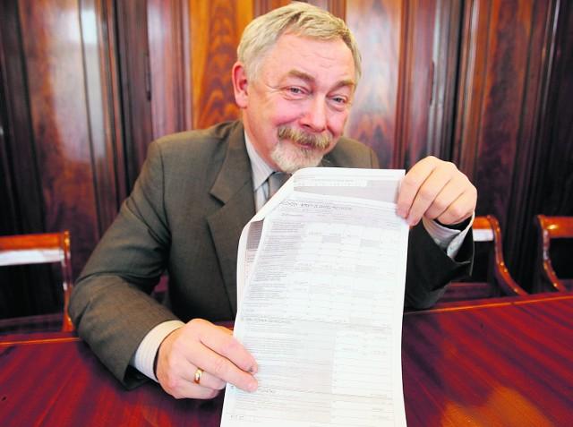 Prof. Jacek Majchrowski pokazuje nam swój PIT