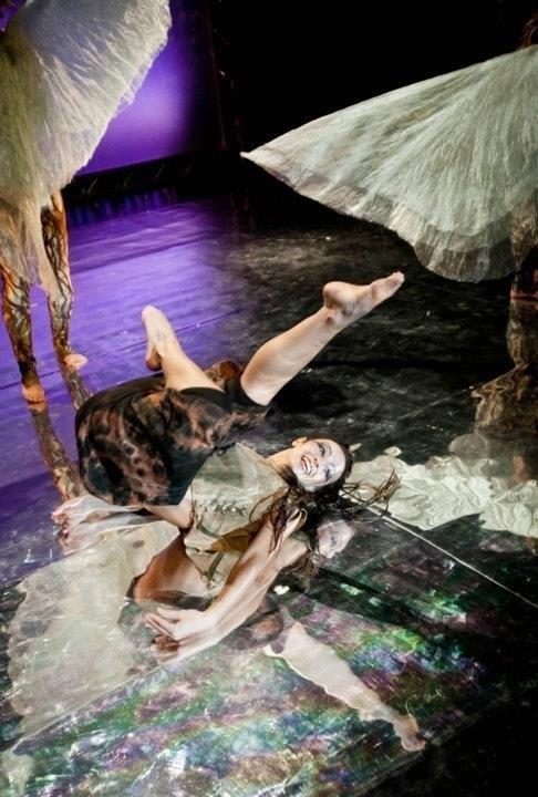 """Spektakl """"Mikrokosmos"""" Wrocławskiego Teatru Pantomimy prezentowany jest w łódzkim teatrze Pinokio."""