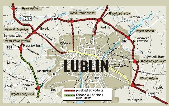 Obwodnica Lublina: Inwestycja ma być gotowa za półtora roku