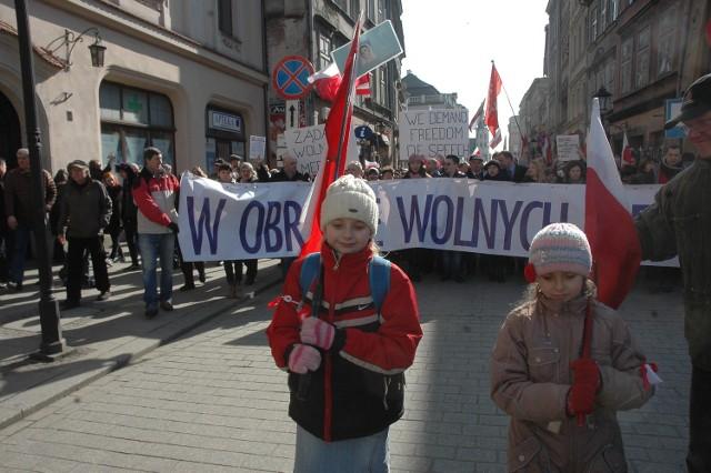 Niedawny marsz w obronie TV Trwam w Krakowie