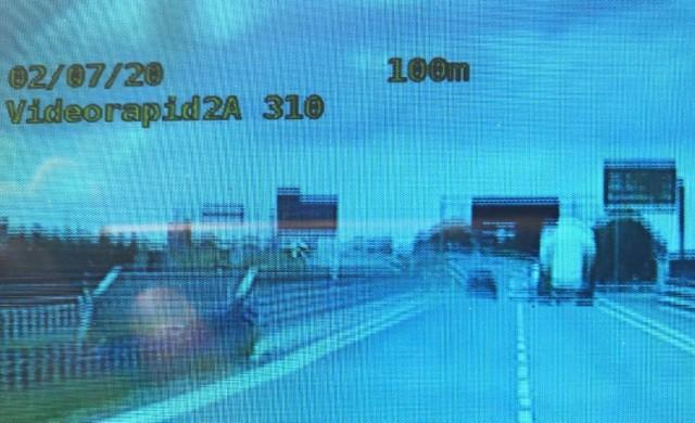Obraz z wideorejestratora na szczecineckiej obwodnicy