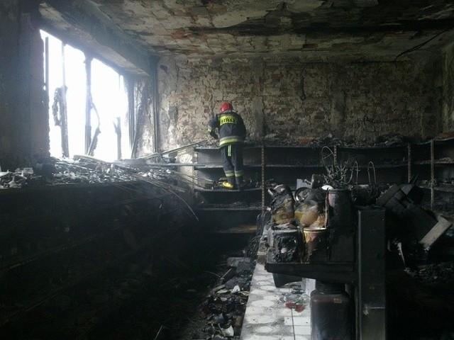 Pożar w Bychawie