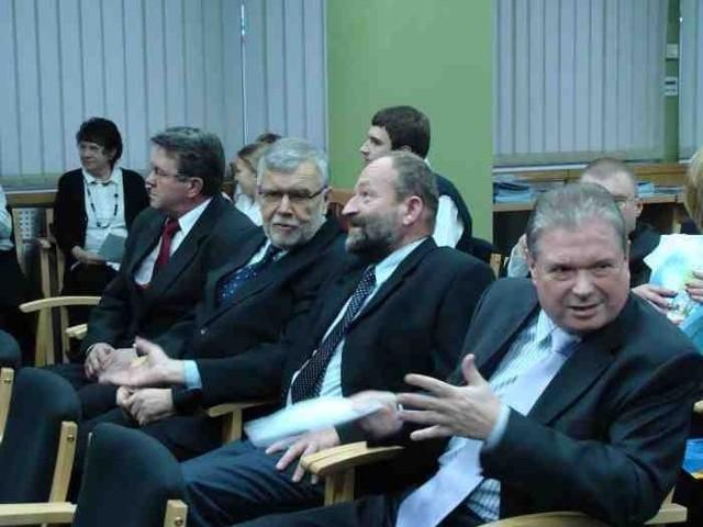Radni i starosta cieszyński (z prawej)