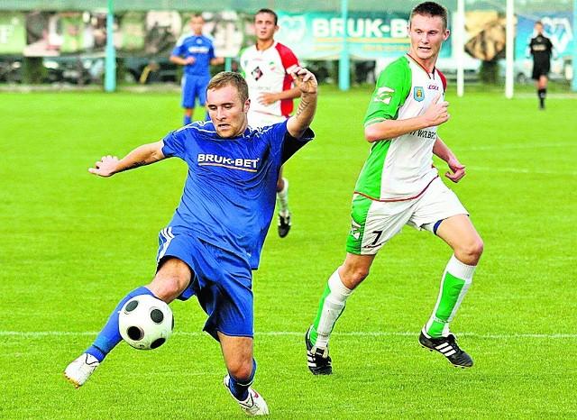 Łukasz Szczoczarz w sobotnim sparingu z Juventą strzelił jedną z bramek dla Bruk-Betu