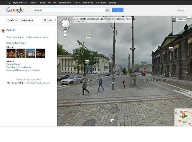 Poznań można podziwiać na mapach Google w opcji street view