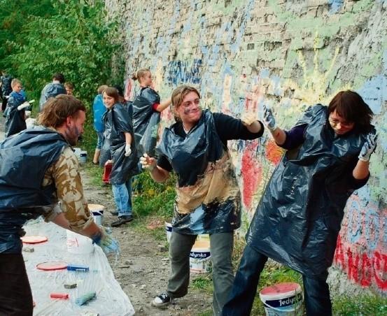 Ubiegłoroczna konkurencja, wspólne malowanie miejskich murów, była świetną zabawą