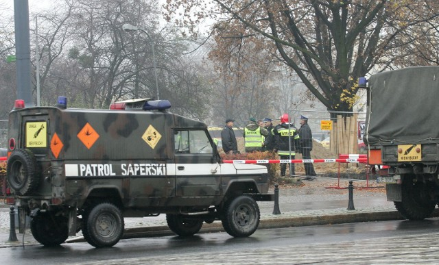 Znaleziono minę na terenie byłego poligonu na Majdanku