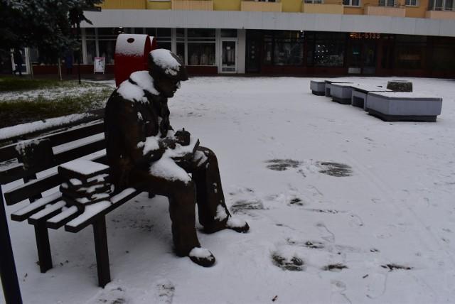 Krosno Odrzańskie po pierwszych opadach śniegu w sezonie 2020/2021.