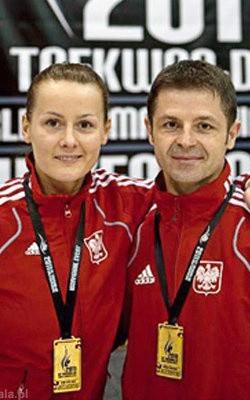 Reprezentanci MKS Lewart AGS Lubartów: Ilona Działa oraz Jarosław Suska