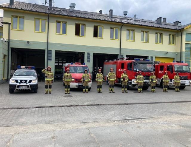 1 sierpnia godzina 17 - straż pożarna w Pińczowie
