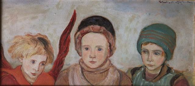 """6,5 tys. zł zapłacono za obraz Wlastimila Hofmana """"Dzieci z aniołem"""""""