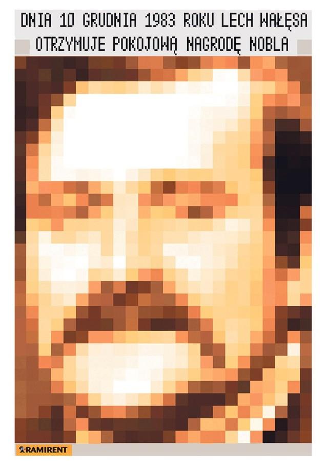 Tak będzie wyglądał gotowy wizerunek Lecha Wałęsy złożony z pikseli