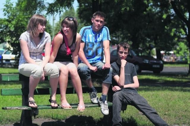 Zgrana paczka przyjaciół. Od lewej: Magda Agnieszka, Piotr i Paweł