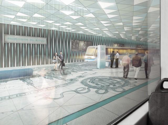 Tak według krakowskiego architekta Przemysława Tabora mógłby wyglądać przystanek metra przy Dworcu Głównym. Wizualizacja: Przemysław Tabor/URBAarchitects