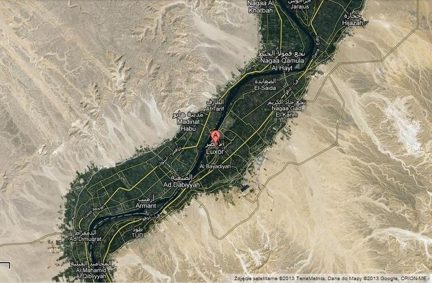 Okolice Luksoru - zdjęcie satelitarne
