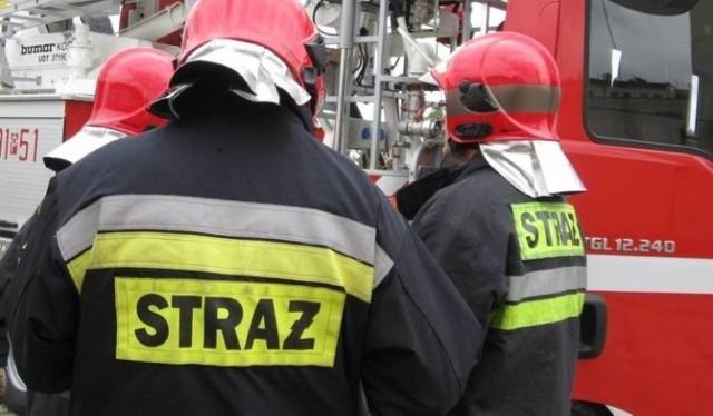 W akcji gaśniczej wzięły udział dwa zastępy PSP z Nowej Soli.