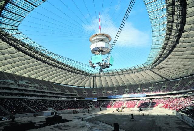 Stadionu Narodowego w Warszawie nie zdążono skończyć na mecz Polski z Niemcami 6 września 2011 roku