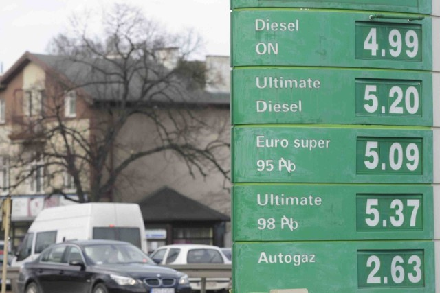 Takie ceny były w piątek na gdańskich stacjach benzynowych