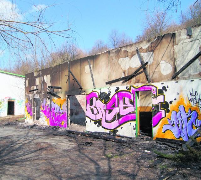 W zeszłym tygodniu pożar strawił jeden z budynków zrujnowanego ośrodka w Myślcu