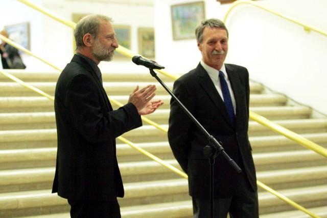 Wernisaż wystawy Andrzeja Okińczyca w Muzeum Narodowym w Poznaniu, 19 lutego 2012 r.