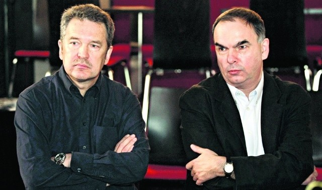 Krzysztof Babicki (po prawej)  i Bogdan Ciosek - nowi sternicy Teatru Miejskiego i R@portu