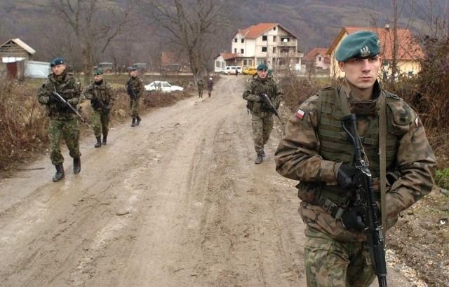 Polski patrol stacjonujący w Kosowie