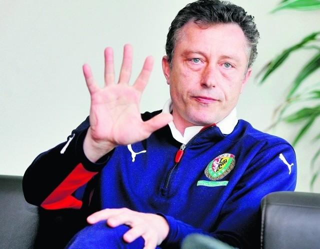 Trener Ryszard Tarasiewicz dotrzymał słowa i Śląsk grał bardziej ofensywnie