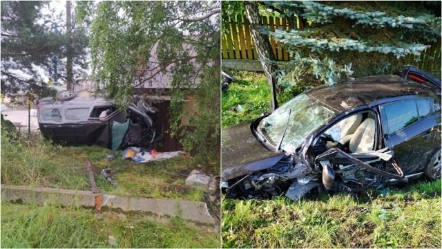 Do jednego ze zdarzeń doszło w Zawadzie Uszewskiej, gdzie kierowca dachował i wjechał w ogrodzenie. Natomiast w Siemiechowie osobówka wypadła z drogi i wylądował w rowie