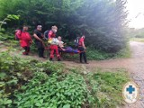 20 interwencji Sudeckiej grupy GOPR w weekend, 1 osoba zginęła. Ponad 40 interwencji w lipcu. Połamani rowerzyści, paralotniarze, turyści