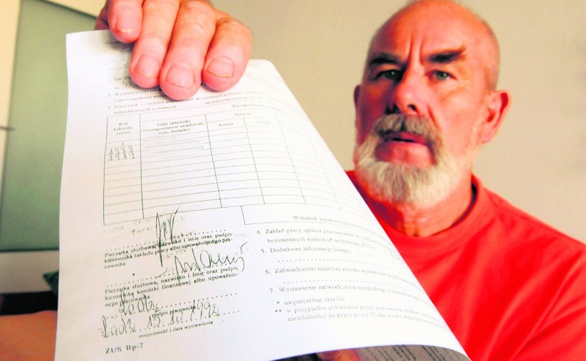 Pan Tadeusz Szymański nie dostanie podwyżki, dopóki nie uzyska odpowiedniego dokumentu