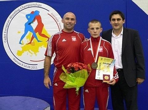Tomasz Ogonowski (Suples Kraśnik) zdobył w ubiegłym roku brązowy medal mistrzostw Europy kadetów