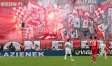 Tak dopingowali kibice Widzewa Łódź w meczu z Lechem Poznań [zdjęcia+wideo]