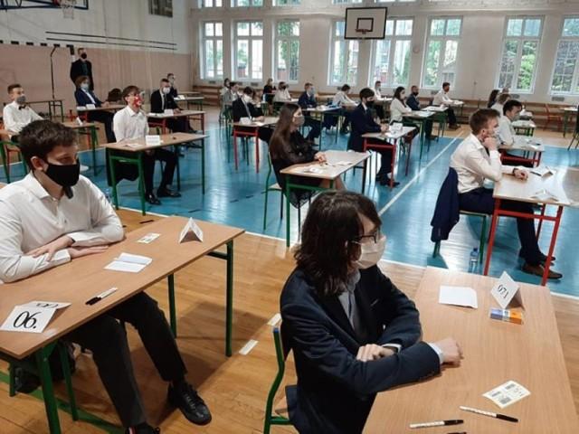 Matura 2020 w I Liceum Ogólnokształcącym w Malborku.