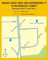 Zmiana trasy autobusu linii 77 [MAPA]
